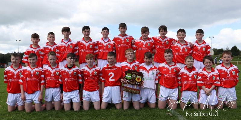 Congrats to the u14 boys All County feile Champions (Pic from The Saffron Gael)
