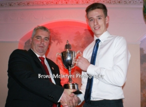 James McNaughton receiving Overall POTY