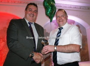 Tommy McIntyre receives a Special Recognition award for his contribution to refereeing at all levels of the game