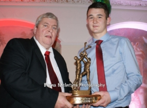 Connall Kerr receives Most Improved POTY