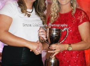 Junior Captain Sarahanne McGarry collects the Junior Championship Cup