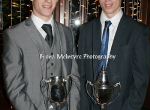 Brothers Nicholas and James with their POTY Trophies