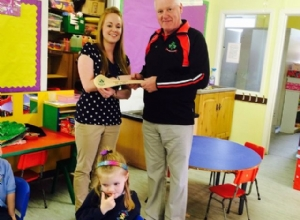 LOUGHGIEL GAC CHAIRMAN WITH THE ST PATRICKS PS NURSERY UNIT